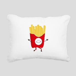 Happy Fries Rectangular Canvas Pillow