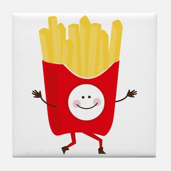Happy Fries Tile Coaster