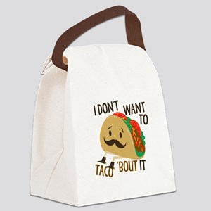 Funny Taco Canvas Lunch Bag