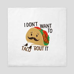 Funny Taco Queen Duvet