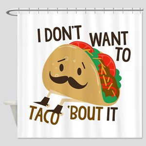 Funny Taco Shower Curtain
