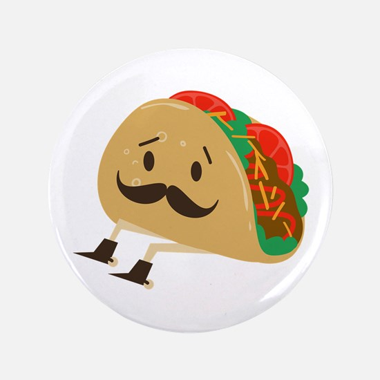"""Taco With Spurs 3.5"""" Button"""