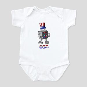 Patriotic Robot Infant Bodysuit