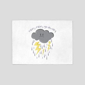Rain Go Away 5'x7'Area Rug