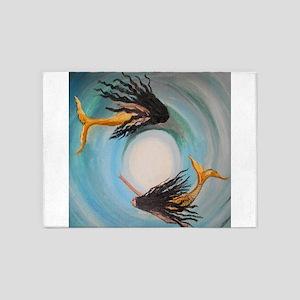 Mystical Mermaid Gemini Twins 5'x7'Area Rug