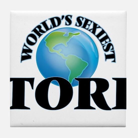 World's Sexiest Tori Tile Coaster