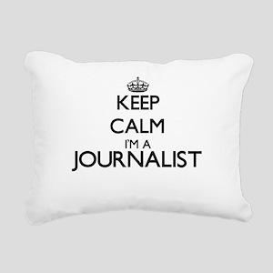Keep calm I'm a Journali Rectangular Canvas Pillow