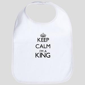 Keep calm I'm a King Bib