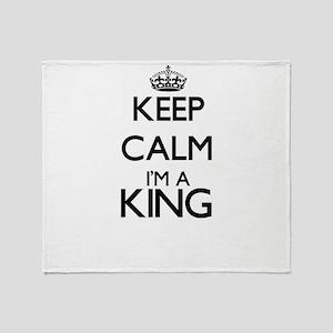 Keep calm I'm a King Throw Blanket