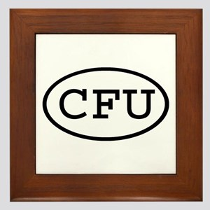 CFU Oval Framed Tile