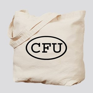 CFU Oval Tote Bag