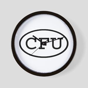 CFU Oval Wall Clock
