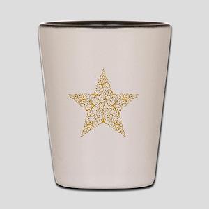 Beautiful Gold Star Shot Glass
