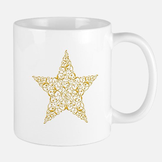 Beautiful Gold Star Mugs