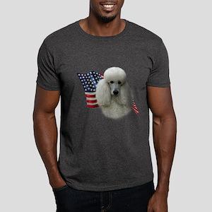 Poodle (Wht) Flag Dark T-Shirt