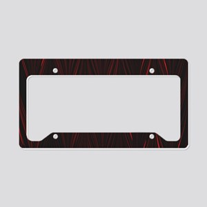 Red and Black Zigzag License Plate Holder
