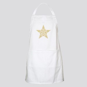 Beautiful Gold Star Apron
