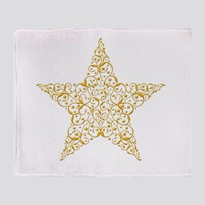 Beautiful Gold Star Throw Blanket
