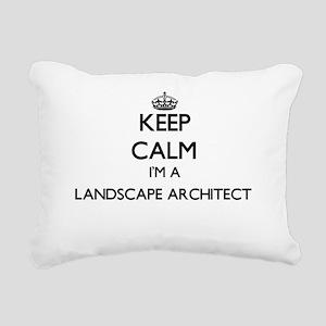 Keep calm I'm a Landscap Rectangular Canvas Pillow