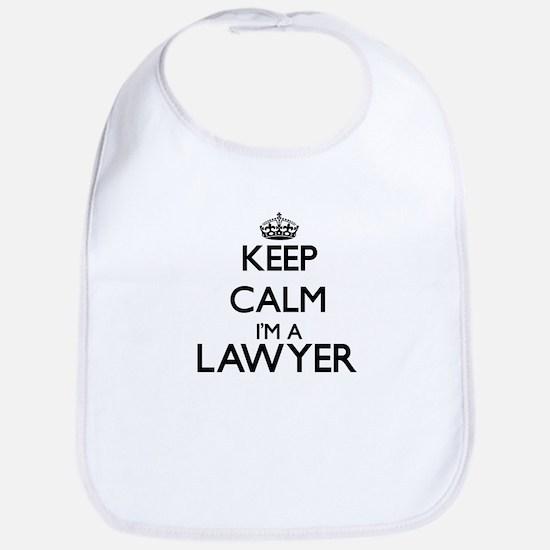 Keep calm I'm a Lawyer Bib