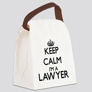 Keep calm I'm a Lawyer Canvas Lunch Bag