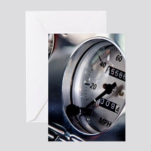 Dashboard Speedometer Greeting Card