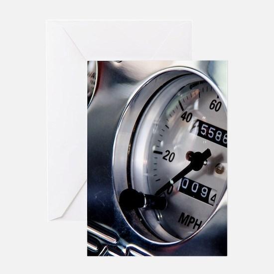Dashboard Speedometer Greeting Card