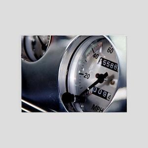 Dashboard Speedometer 5'x7'Area Rug