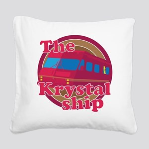 The Krystal Ship Square Canvas Pillow