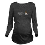 Christmas Puppy Long Sleeve Maternity T-Shirt
