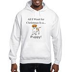 Christmas Puppy Hooded Sweatshirt