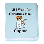 Christmas Puppy baby blanket