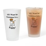 Christmas Puppy Drinking Glass