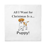 Christmas Puppy Queen Duvet