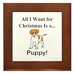 Christmas Puppy Framed Tile