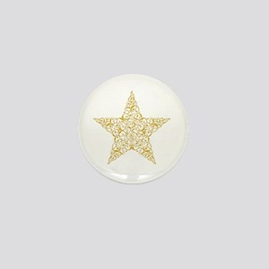 Beautiful Gold Star Mini Button