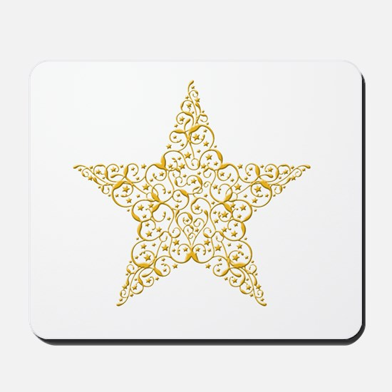 Beautiful Gold Star Mousepad