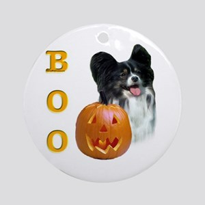 Papillon Boo Ornament (Round)