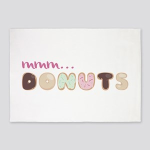 Mmm.. Donuts 5'x7'Area Rug