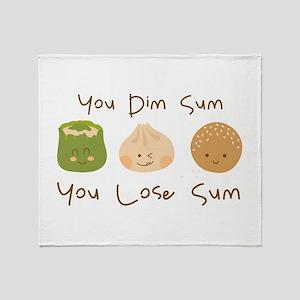 Dim Sum Lose Sum Throw Blanket