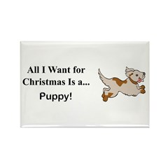 Christmas Puppy Rectangle Magnet