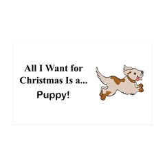 Christmas Puppy Wall Decal