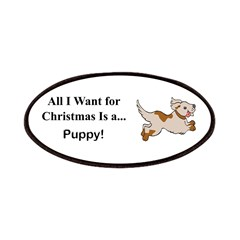 Christmas Puppy Patches