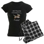 Christmas Puppy Women's Dark Pajamas
