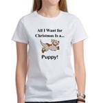 Christmas Puppy Women's T-Shirt
