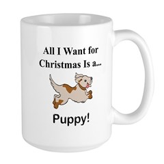 Christmas Puppy Large Mug