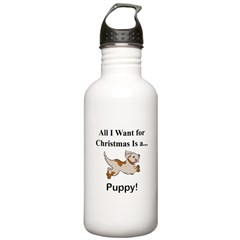 Christmas Puppy Water Bottle