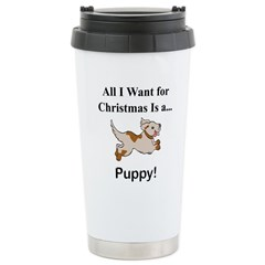 Christmas Puppy Stainless Steel Travel Mug