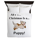 Christmas Puppy Queen Duvet