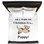 Christmas Puppy King Duvet